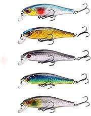 5 st Fiske Lures 8,6cm / 9.3g Fiske Lures Minnow Viktsystem Wobbler Modell Crank Bait Fiske Lures Bait
