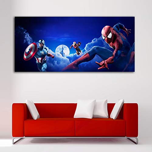 Cuadro Lienzo Spiderman Iron Man Capitan