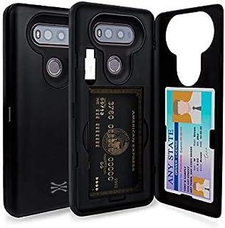 TORU CX PRO LG V20 Wallet Case with Hidden ID Slot Credit Card Holder Hard Cover, Mirror & USB Adapter for LG V20 - Matte ...