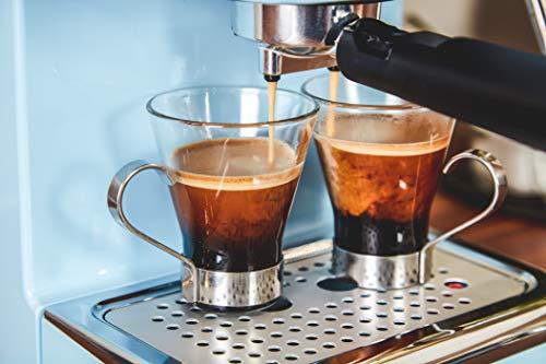 Swan SK22110BLN, Retro Pump Espresso Coffee Machine, 15 Bars of Pressure, Blue
