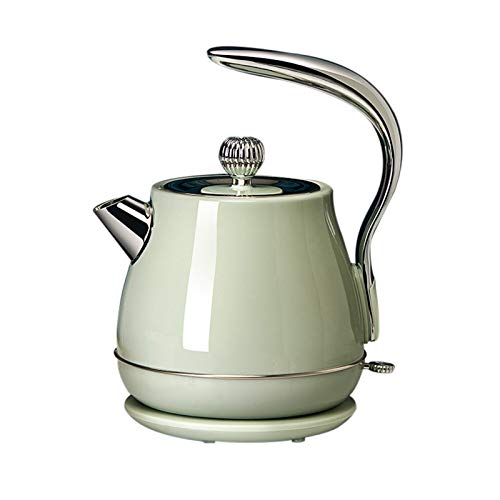 Kitchen supplies Bouilloire rétro, Chauffe-Eau à ébullition Rapide de 1,5 L Bouilloire à thé en Acier Inoxydable avec Protection Contre l'ébullition et à Sec, Mini-Bouilloire à Base rotative à 360 °