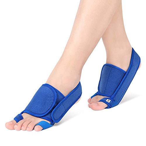 Bunion Corrector with Gel Arch Support, Three-Dimensional Pressure Orthopedic Bunion Splint Brace, Big Toe Straightener and Small Toe Correction Strap for Hallux Valgus and Flat Foot Pain Relief