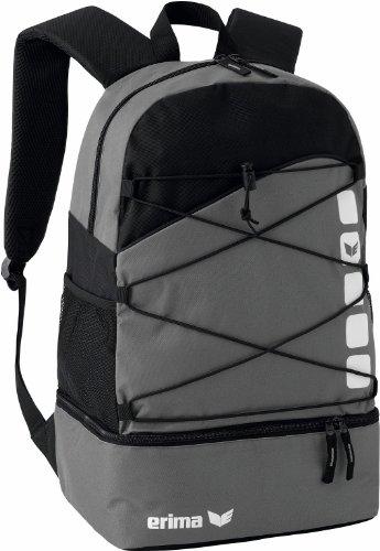 Erima GmbH 723344  Mochila Multifunción con Compartimento Inferior  Granito Negro  24.3