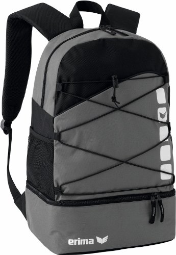 Erima 723344, Backpack Unisex-Adulto, Granito/Nero, 24.3 L, 30x18x45 cm
