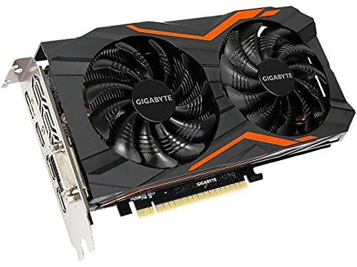 Computer Upgrade King Gigabyte GeForce GTX 1050 G1 Gaming 2G Gaming Graphics Card 2GB 128-Bit GDDR5 Windforce 2X Fans Video Card (GV-N1050G1 GAMING-2GD)