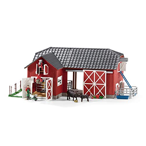 Schleich Farm World  Farm Toys for Boys and Girls Ages 3-8  27-Piece Playset  Large Toy Barn with Farm Accessories