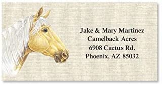 Happy Horses Personalized Border Return Address labels- 6 Designs, Set of 144 1-1/8