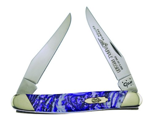 CASE XX Slant Series Purple Passion Muskrat 1/2500 Stainless Pocket Knife Knives