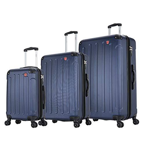 DUKAP Intely Hardside Luggage Set with Spinner Wheel, Travel Suitcases with TSA Lock and Ergonomic GEL Handle, Blue, 3 Piece Set (20/28/32)