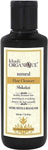 Glamorous Hub Khadi Organique Herbal Shikakai Hair Cleanser (210 ml) (el embalaje puede variar)