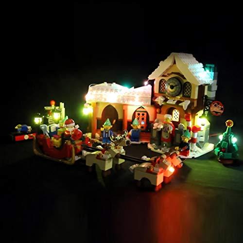 Yavso Led Beleuchtungsset für Lego, LED-Licht Set LED Beleuchtung Baustein Spielzeug Licht Set für Lego 10245 Weihnachtliche Werkstatt (Nicht enthalten Lego-Modell)