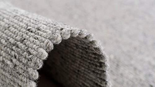 Pergamon Natur Teppich Wolle Beidseitig Island Grau in 8 Größen