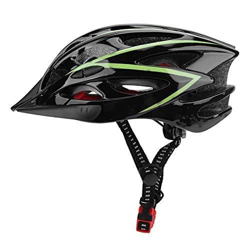 Casco de Bicicleta, [Hermoso y práctico Casco de Bicicleta L para Hombres, Mujeres, Longitud Ajustable, ventilación para Ciclismo(Verde Oscuro)
