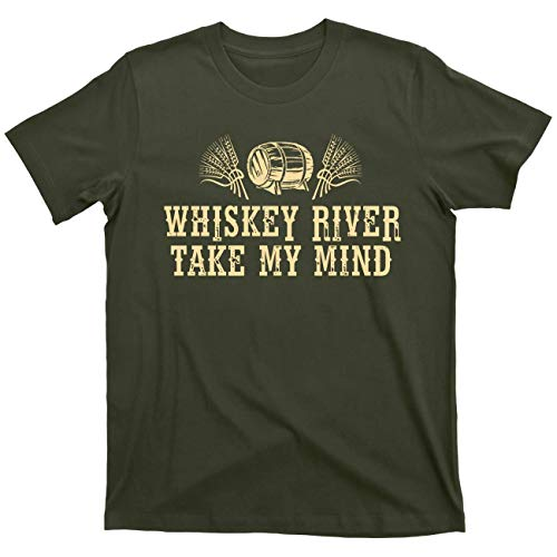 Whiskey River Take My Mind Willie Nelson tee T Shirt (High Willie Green, X-Large)