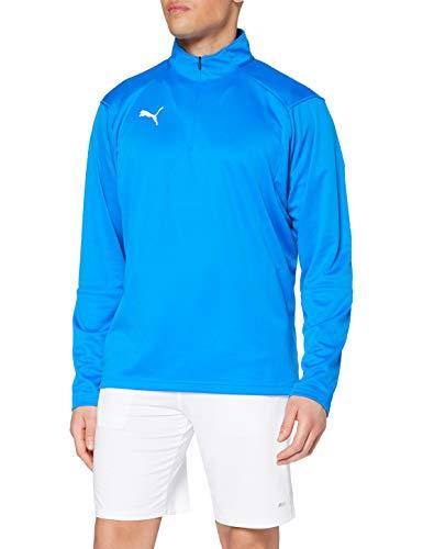 Puma Herren 1/4 Zip Fußball Liga Trainingsoberteil, blau (Electric Blue Lemonade-Puma White), 48/50 EU (UK: M)