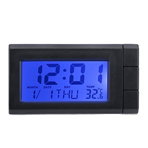 Auto Watch Thermometer Temperaturanzeige Elektronische Uhr Selbstklebende Auto LCD Digitalanzeige Uhr Auto Ornamente