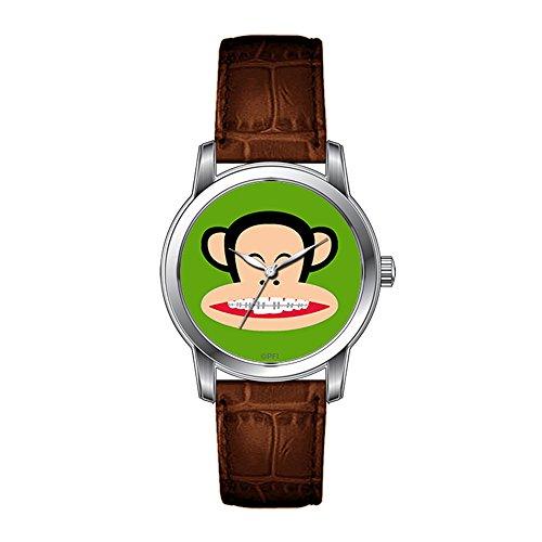 JLS Creative Relojes Hombres de diseño Vintage Piel marrón Banda muñeca Reloj Julius Tirantes Reloj de Pulsera
