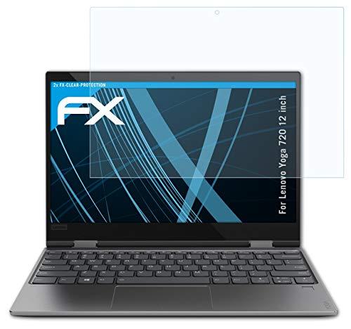 atFolix Schutzfolie kompatibel mit Lenovo Yoga 720 12 inch Folie, ultraklare FX Bildschirmschutzfolie (2X)