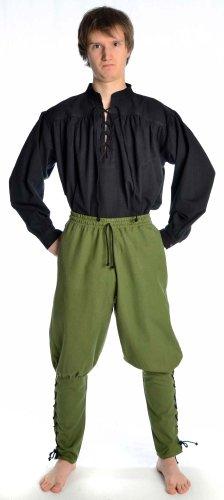 Hemad Pantalones de algodón para Hombres Viking - con Cordones - S/M Verde