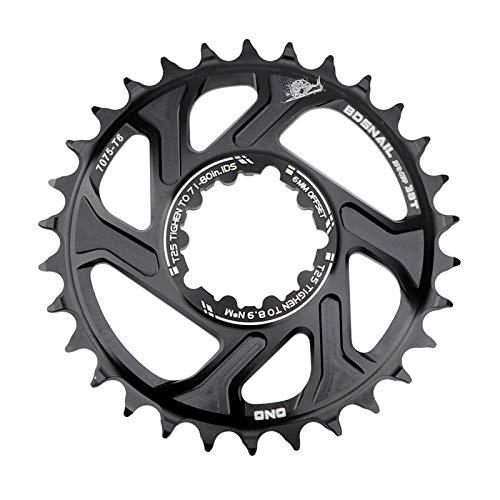SunniMix Bike Direkter Montieren Kettenblatt Mountain Road Fahrrad 8~11 Geschwindigkeit Geschmiedet Aluminium Legierung Engen Breite Kettenblatt Ersatz - Schwarz 30T