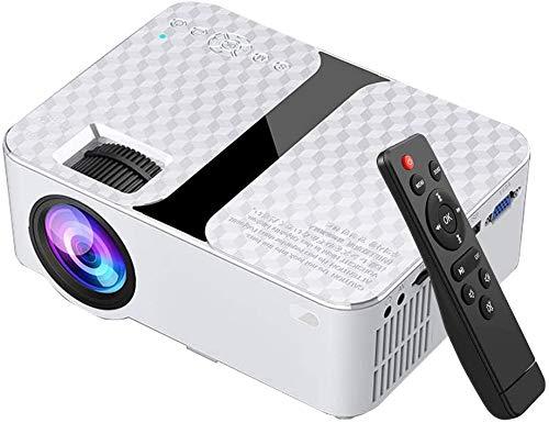 RUNMIND Mini proyector, proyector de películas de Alto Brillo, proyector de Video portátil para teléfonos Inteligentes Que admite 1080p y Pantalla de 176 Pulgadas
