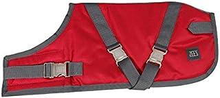 ZEEZ Supreme Dog Coat Size 20 (51cm), Ruby Red/Grey