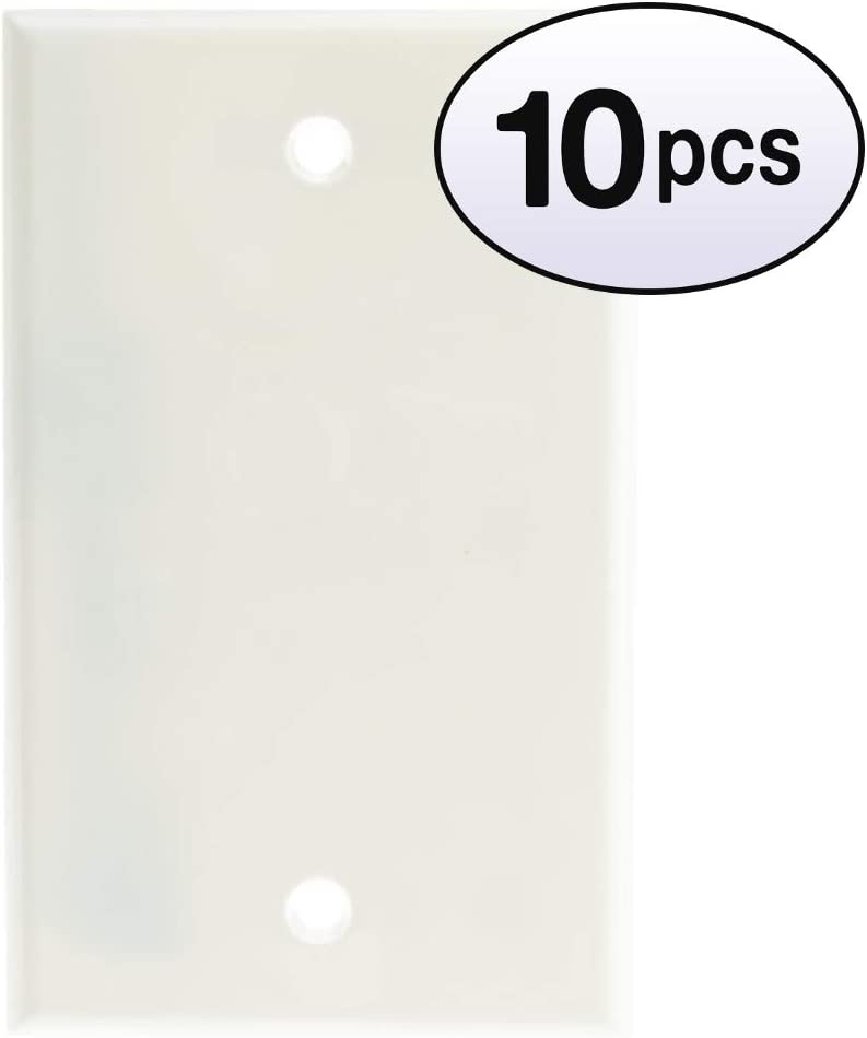 GOWOS 10 Price reduction Pack Wall Blank Attention brand Cover White Plate