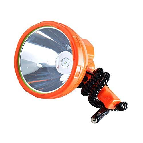 ZHHZ Luz de Trabajo portátil 12v 1000m Lámpara de Pesca, 50W LED Vehículo Ligero - Proyector LED montado, Proyector portátil súper Brillante para Camping, Coche, Caza