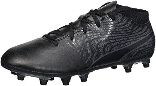 PUMA Unisex-Kids One 18.4 FG Jr Soccer-Shoes, Puma Black-Puma Black-Asphalt, 5 M US Big Kid