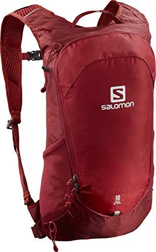 Salomon Trailblazer 10, Zaino Unisex Trail Running Escursionismo Sci Snowboard, Rosso (Red Chili), Taglia Unica