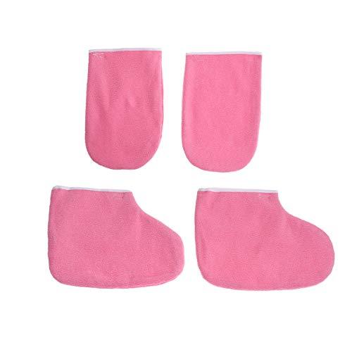 Lurrose 2 paar handschoenen laarzen beschermende kleding geïsoleerde paraffine wax midts voor wax heater manicure supply