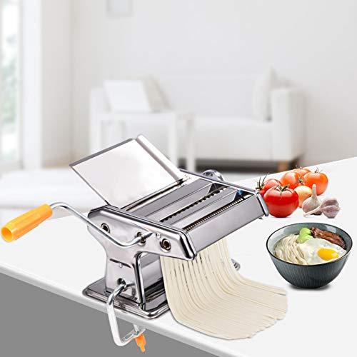 Pangdingk Máquina para Hacer Fideos, máquina para Hacer Pasta, cortadora de Pasta doméstica de Acero Inoxidable para el hogar, Restaurante, Cocina, Tienda de Comida rápida