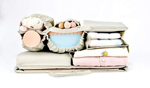 Baby Wickeltasche Tragbar Windelwechsel Organizer f/ür Baby Neugeborene Baby-Essentials Baby Aufbewahrungsbox f/ür Windel Multifunktionale Wickeltasche Windel Caddy