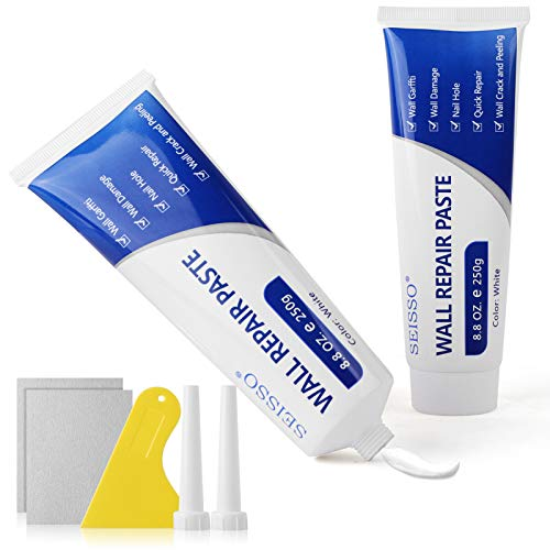 2 Pcs Wall Repair Paste, Drywall Patch Repair Kit with Scraper, Wall Mending Agent Spackle Paste, Self-Adhesive Quick & Easy Solution to Fix The Holes and Crack for Wall, Wood, Plaster (2 x 250g)