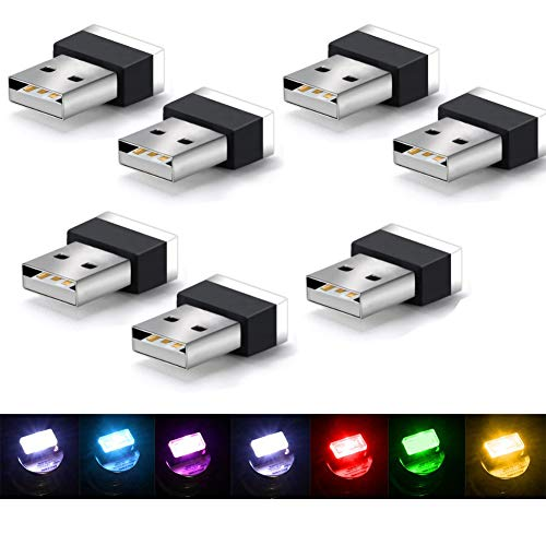 interni auto luce LED,Mini Auto Luci per interni auto, atmosfera USB luce LED universale,luce di atmosfera per auto, notebook, power bank