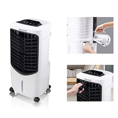 Honeywell White Quiet, Low Energy, Compact Spot Fan & Humidifier, TC09PEU Indoor Portable Evaporative Air Cooler