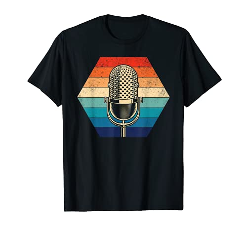 Singer Vocalist - Microfono vintage Maglietta