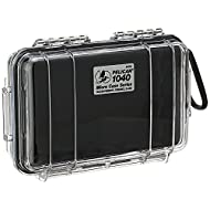 Pelican 1040 Micro Case (Black/Clear), Model:1040-025-100