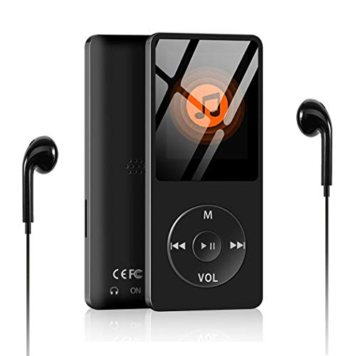 MP3 Player, Aigital Portable HiFi Music Player Built-in 8GB Capacity Can Expand to 128GB, Economic Multi-Functional MP3 Adapter with Video/FM Radio/Record Function (Earphones Included)