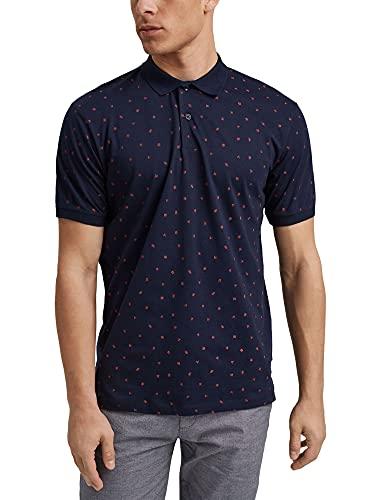 Esprit 041ee2k327 Camisa de Polo, Azul Marino, L para Hombre