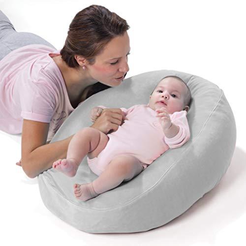 Nuvita 7104 Funda Nido para Almohada de Embarazo Dreamwizard 7100 – Funda para Convertir el Cojin de Lactancia en una Cómoda Cama para el Bebé – Se Lava a Maquina a 40° - Marca Europea (Gris)