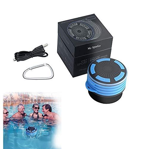 Hengyuan Altavoz impermeable de la ducha, altavoz inalámbrico Bluetooth impermeable ducha inalámbrico resistente al agua micrófono portátil