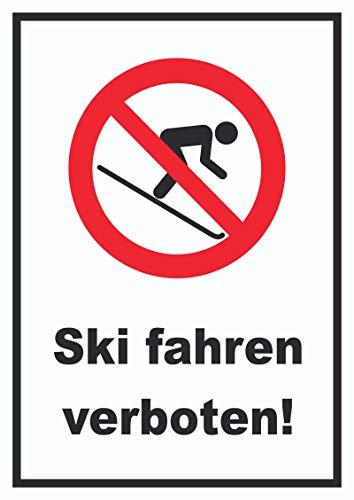 HB-Druck Ski Fahren verboten! Schild A2 (420x594mm)