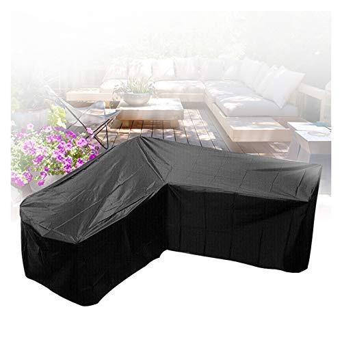 ASPZQ Funda Sofá Esquina Exteriores Cubierta Impermeable para Muebles En Forma de L A Prueba Polvo Resistente Al Desgarro 210D Tela Oxford Cubierta Grande para Juego Patio