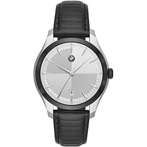 BMW Herren-Uhren Analog Quarz One Size Schwarz Leder 32012133