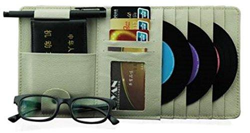 PANDA SUPERSTORE Auto Accessories DVD/CD Storage CD Visor DVD Wallet CD/DVD Holder Beige