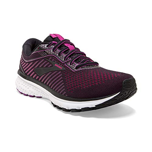 Brooks Damen Ghost 12 Laufschuh, Herren, Ghost 11, Schwarz/Hollyhock/Pink, 5
