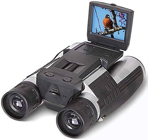 J-Clock Cámara telescópica Binocular Digital LCD 2 Pulgadas HD 12x32 5MP Video grabadora Fotos para observación Aves Concierto Juego fútbol