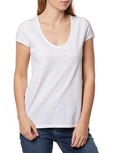Drykorn Damen T-Shirt Avivi 89377 888 D-Jersey, Weiß (Weiß 60), 38 (Herstellergröße: M)