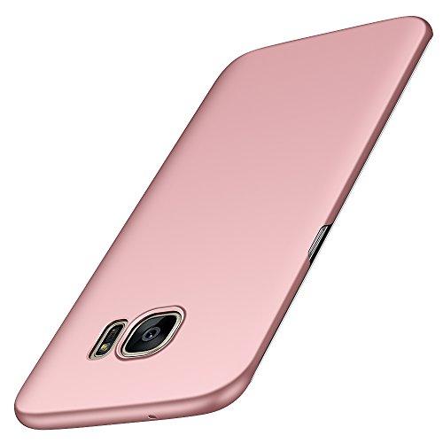 Anccer Cover Samsung Galaxy S7 EDGE [Serie Colorato] di Gomma Rigida Protezione Da Cadute e Urti per Samsung S7 EDGE (Non adatto per Samsung S7)-Oro rosa liscio